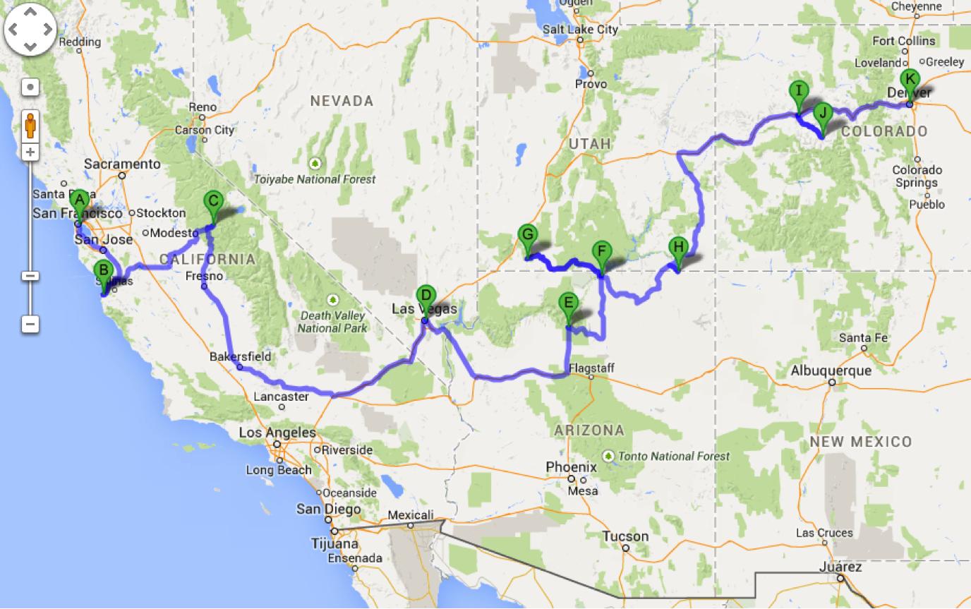 Suficiente Road Trip USA: da Califórnia ao Colorado | z trip CX77