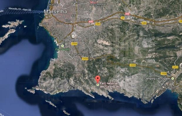 mapa calanques